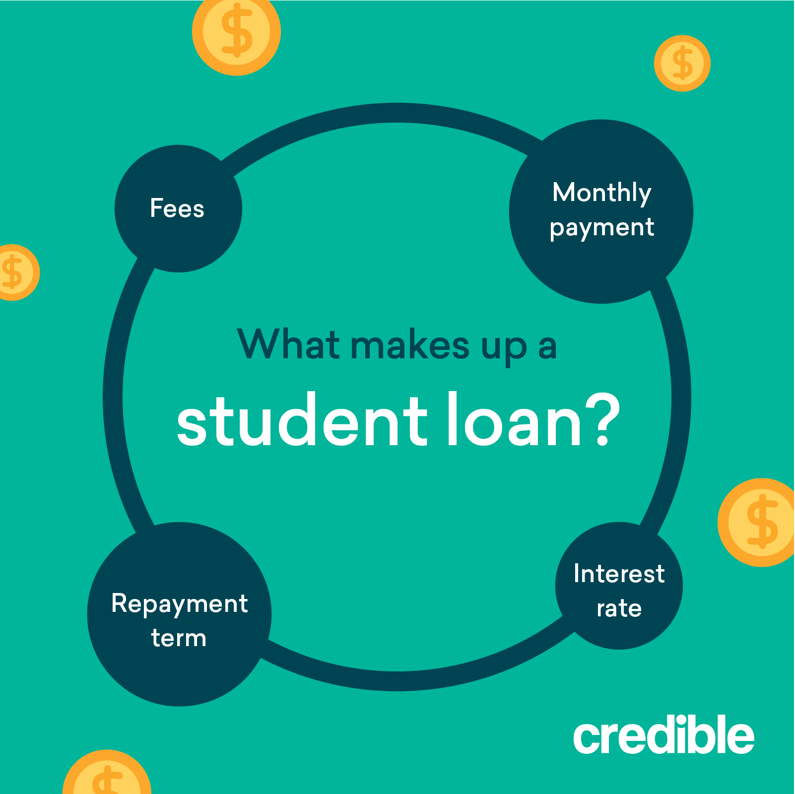 What makes up a student loan