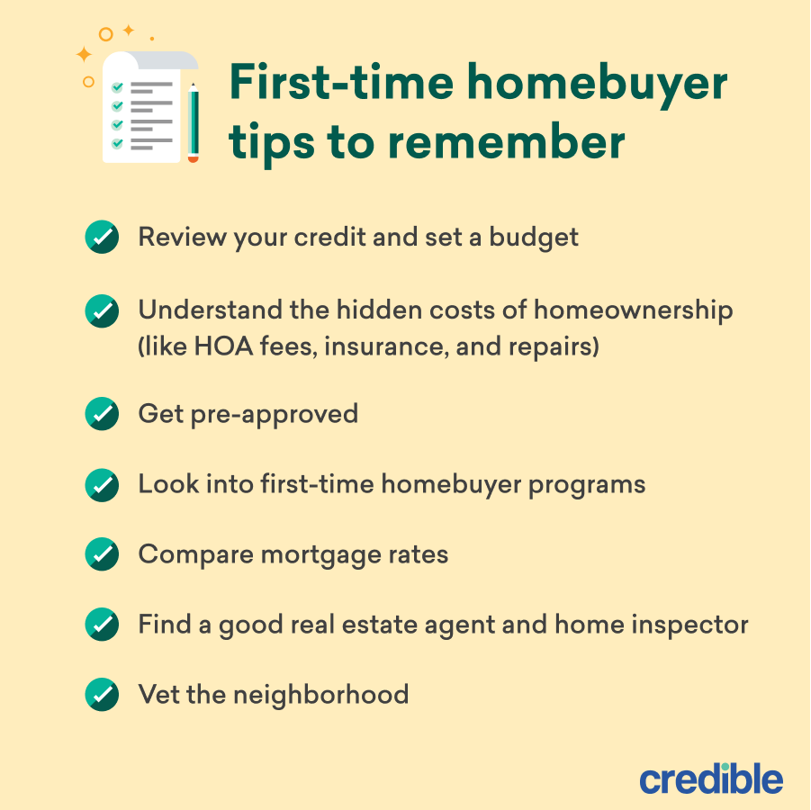 First Time Homebuyer Tips Infographic