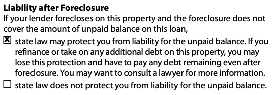 Closing Disclosure | See Loan Calculations, Contact Information, and Other Disclosures, including Liability After Foreclosure, on Page 5