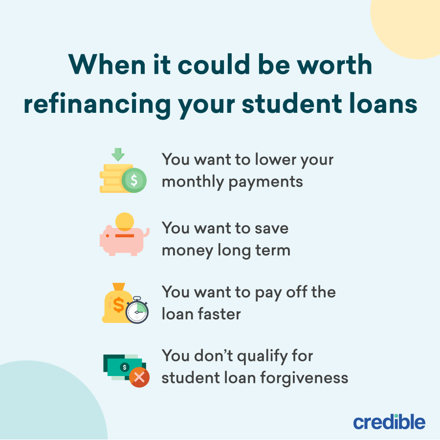When it could be worth refinancing your student loans infographic
