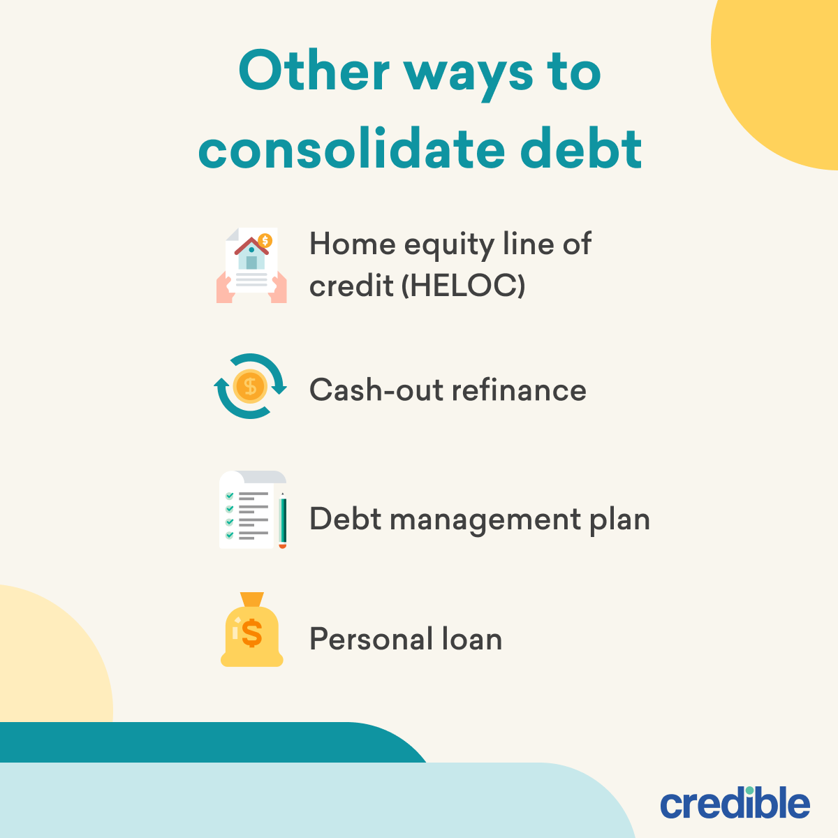 Other Ways to Consolidate Debt Infographic